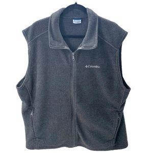 COLUMBIA Charcoal Gray Full Zip Fleece Vest